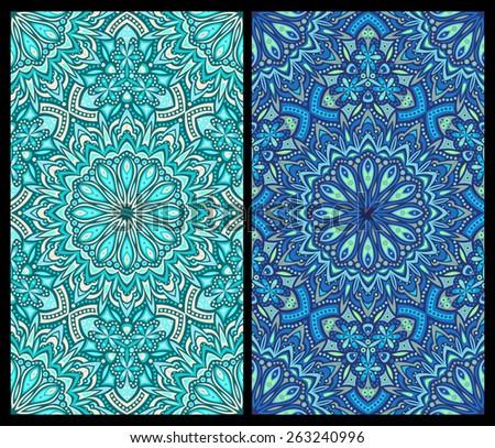 seamless pattern: detailed vector persian carpet, raster version - stock photo