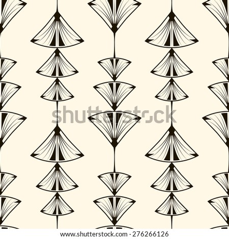 Seamless pattern, graphic ornament, modern stylish background. Repeating texture with stylized geometric elements - stock photo