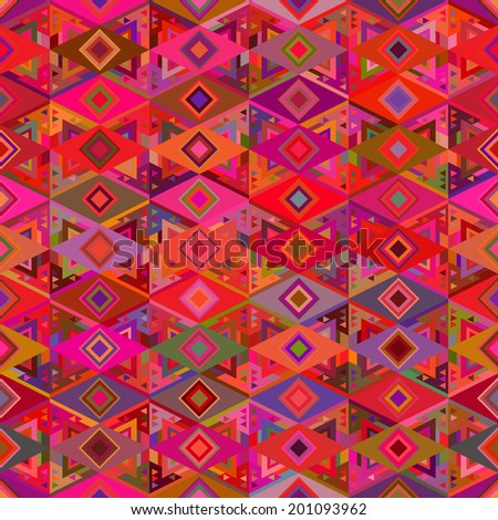 Seamless pattern in ethnic style. Colorful pattern of geometric shapes.