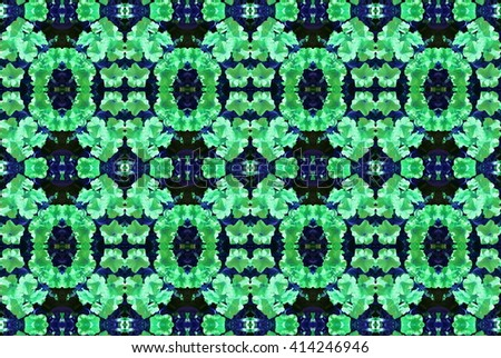 Seamless pattern made from the colorful flowers background - stock photo
