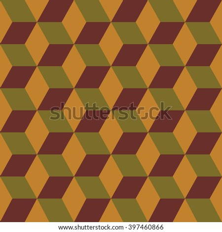 Seamless pattern of colored cubes. Endless multicolored cubic background. Cubical background. Abstract seamless background with cube decoration.  - stock photo