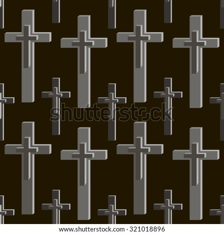 Seamless pattern of crosses in black and gray colors