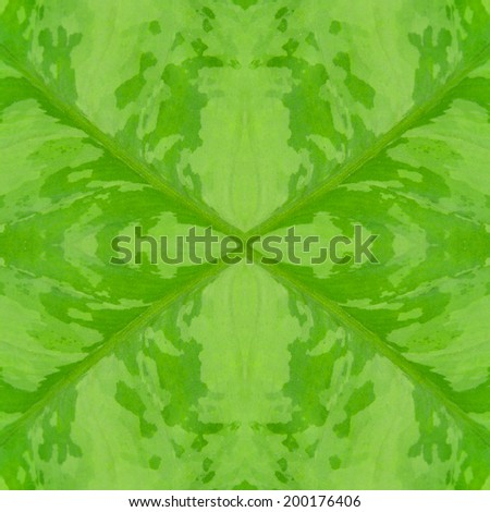 Seamless pattern of green leaf abstract background texture - stock photo