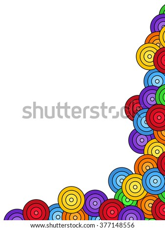 Seamless pattern of overlaid colorful circles - stock photo
