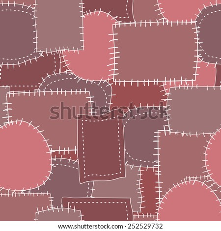 seamless pattern of patches 1. Raster version - stock photo
