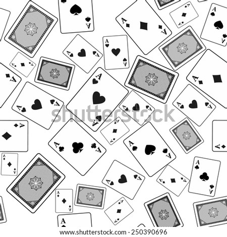 Seamless pattern of poker cards