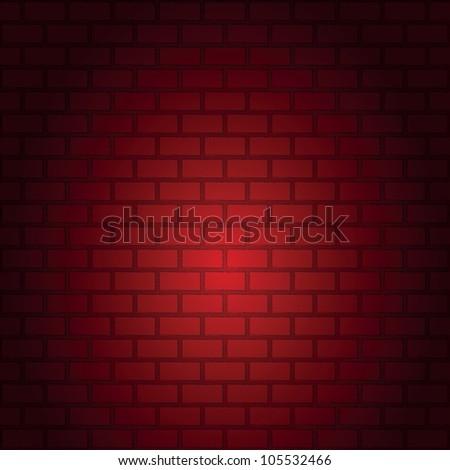 seamless pattern of Red brick wall - stock photo