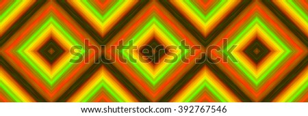 seamless pattern of  squares of blended stripes of paint in shades of orange, yellow and green - stock photo