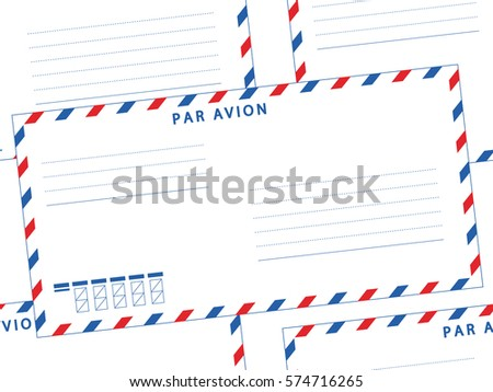 Seamless Pattern Of The Airmail Envelopes