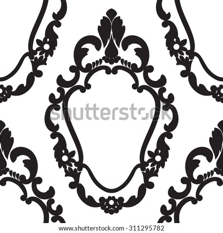 Seamless Pattern of the Vintage Frame - stock photo
