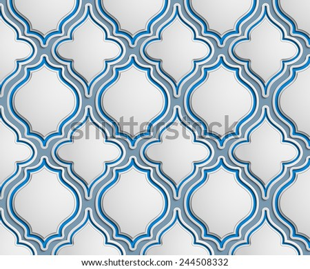 Seamless pattern of vintage elements - stock photo