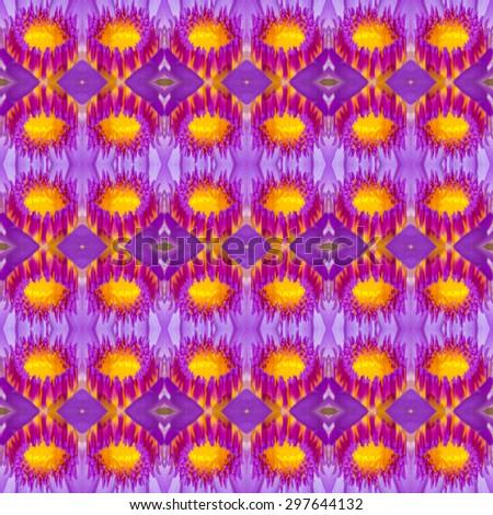 Seamless pattern on purple, pink, yellow, orange tone - stock photo