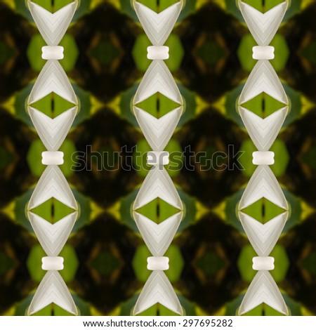 Seamless pattern on yellow, green tone - stock photo
