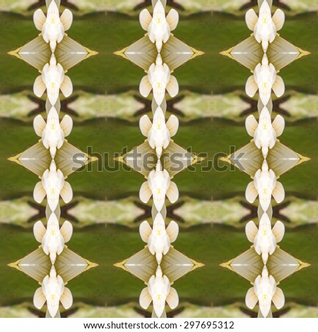 Seamless pattern on yellow, orange, green tone - stock photo
