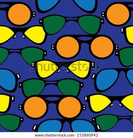 seamless pattern retro sunglasses