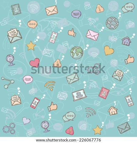 Seamless pattern social network.
