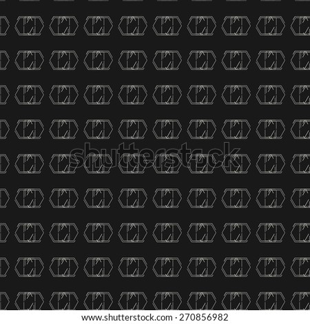 Seamless pattern, stylish background, modern texture, abstract lines. - stock photo