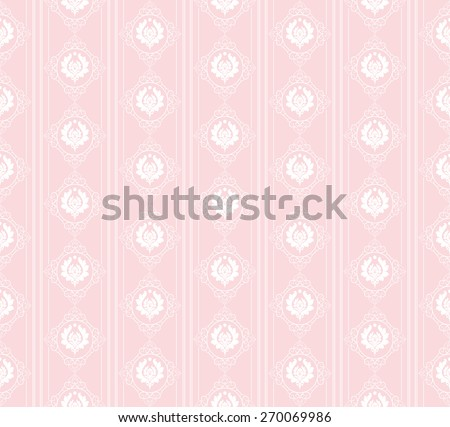 Seamless pattern. Template Background. Modern Wallpaper for your design. Image texture. Old style. For design of cards, invitations, book, web design, wallpapers for walls. Cute pink color - stock photo