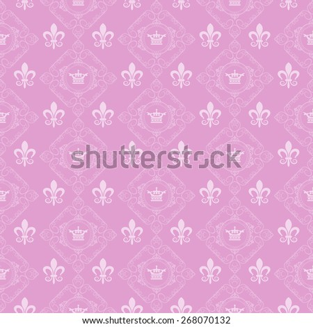 Seamless pattern. Wallpaper background for Your design. Pink - stock photo