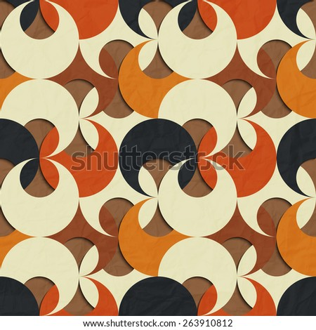 seamless pattern with abstract floral ornament - stock photo