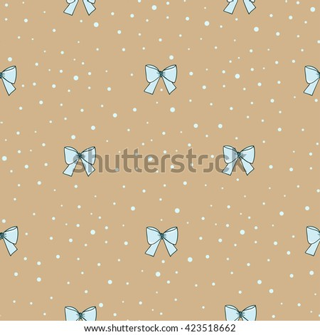 Seamless pattern with bows.  - stock photo