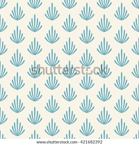 Seamless pattern with branches - stock photo