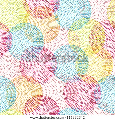 Seamless pattern with bright circles. Seamless pattern can be used for wallpaper, pattern fills, web page background, surface textures. - stock photo