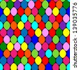 Seamless pattern with colorful circles. raster version, vector file also included - stock photo