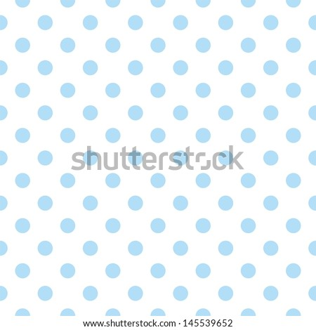 Seamless pattern with cute pastel baby blue polka dots on white background. For web design, desktop wallpaper, card, invitation, wedding, baby shower, album, background, art, decoration or scrapbook  - stock photo