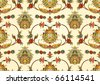 seamless pattern with east flowers - stock vector