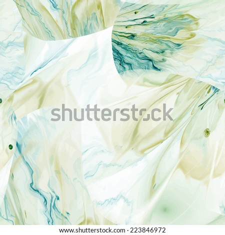 Seamless pattern with floral and painterly elements - stock photo
