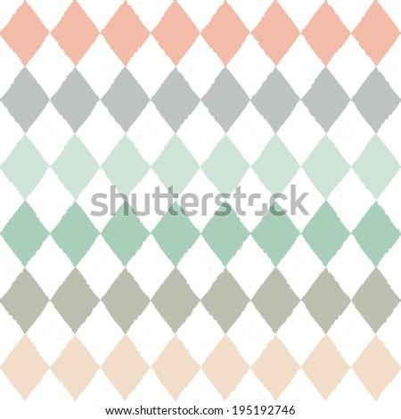 Seamless pattern with geometric rhombuses texture - stock photo