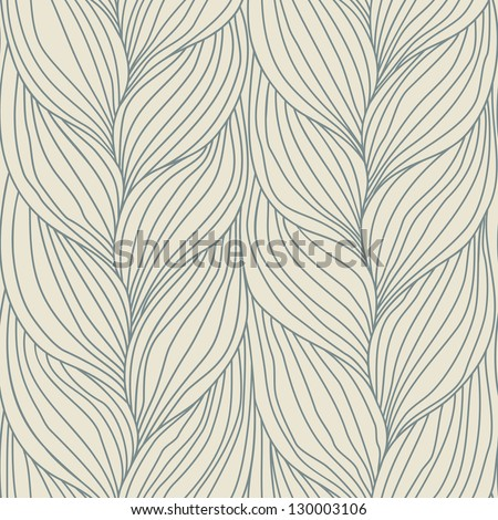 Seamless pattern with hairstyle of plait. Abstract decorative simple illustration of interweaving of braids. Ornamental background in the form of a knitted fabric. Stylized textured yarn close-up - stock photo