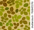 Seamless pattern with leaf, leaf background - stock photo