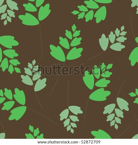 Seamless pattern with leaves - stock photo