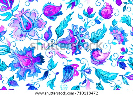 Seamless pattern pink blue fantasy whimsical stock illustration seamless pattern with pink blue fantasy whimsical flowers natural wallpaper floral decoration flores mightylinksfo
