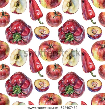 Vegetable Crayon Drawing Stock Images, Royalty-Free Images ...  Vegetable Crayo...