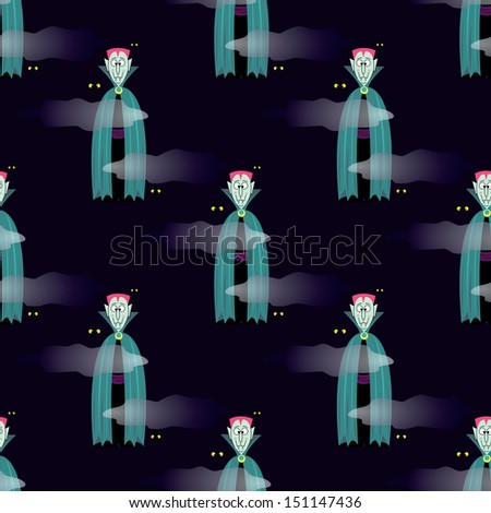 seamless pattern with  Vampire  background - stock photo