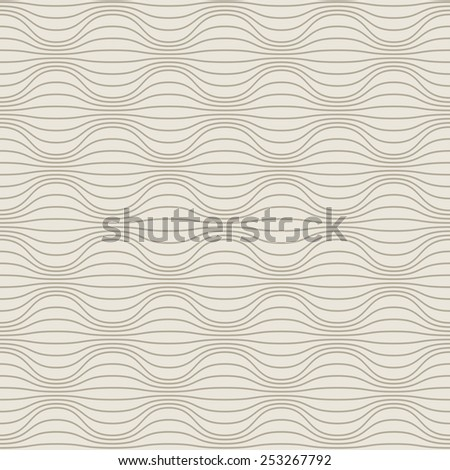 Seamless pattern with wavy lines. Illustration with texture for print, web. Background with optical effect of volume