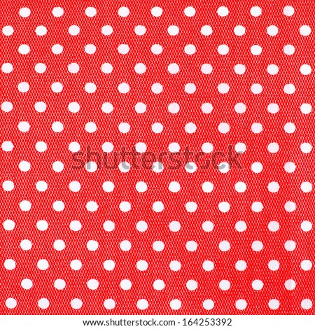 Seamless pattern with white polka dots on a red background.  - stock photo