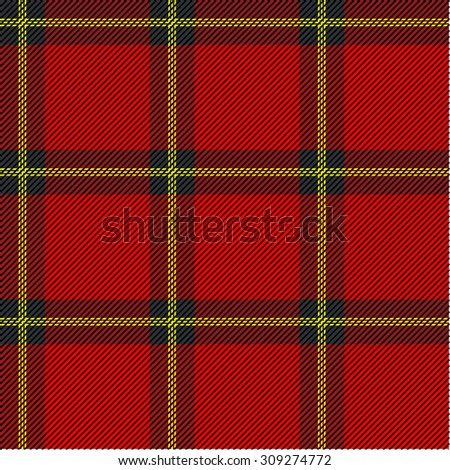 Seamless plaid checkered pattern. Red, yellow, green. Backgrounds & textures shop. - stock photo