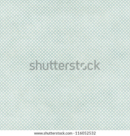 Seamless polka dots pattern on paper texture - stock photo