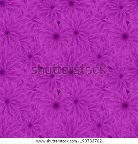 Seamless purple flower pattern background - jpg version - stock photo