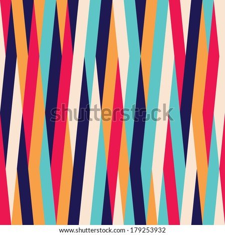 Seamless raster abstract striped color background pattern - stock photo