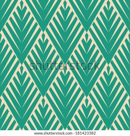 Seamless raster geometric ethnic pattern background - stock photo