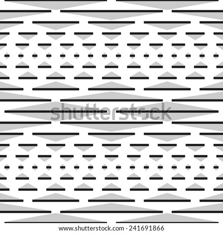 Seamless Raster Pattern - Modern monochrome pattern using various shapes on a white background. Vector version (ID: 173948204) in portfolio. - stock photo