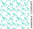 Seamless raster science background made of glossy atom molecule particle - stock photo