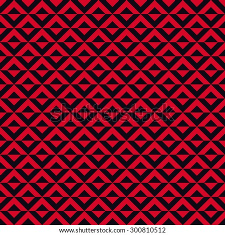 Seamless red and black op art diagonal squares pattern