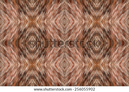 Seamless repeating cat fur diamond pattern - stock photo