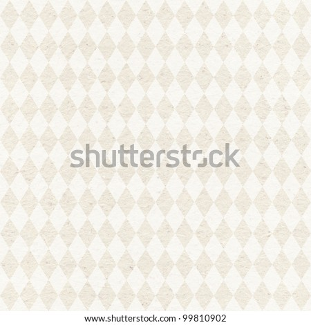 Seamless retro harlequin background. Geometric pattern on grungy paper texture - stock photo